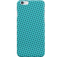 Simple dots on teal background iPhone Case/Skin