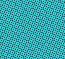 Simple dots on teal background by Lena127