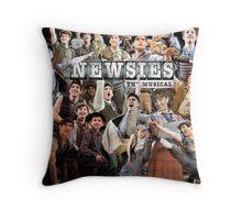 Newsies on Broadway photo collage Throw Pillow