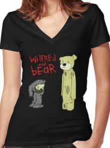 wilfred and bear Women's Fitted V-Neck T-Shirt