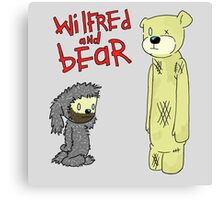 wilfred and bear Canvas Print