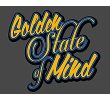 Golden State of Mind Script Photographic Print