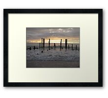 Early Winters Sunset  Framed Print