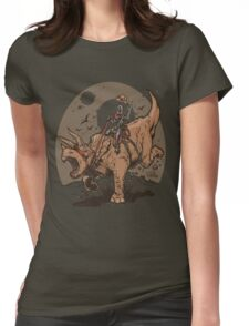 Triceratops CowBot Womens Fitted T-Shirt