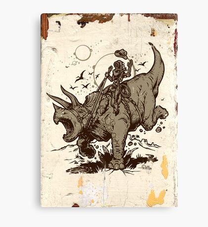 Triceratops CowBot Canvas Print