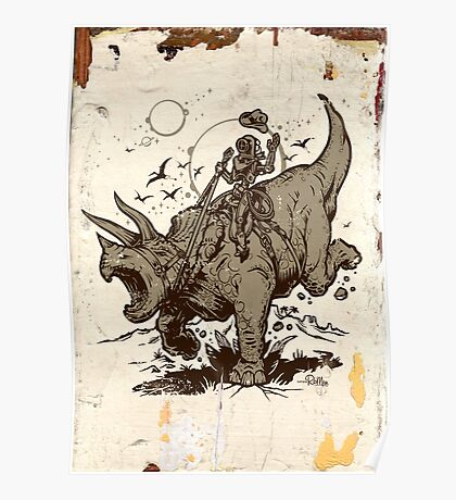 Triceratops CowBot Poster