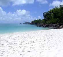 The whitest sand - Whitehaven Beach by ValWhitehorn