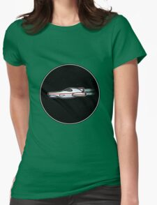 Spaceship in space [Big] Womens Fitted T-Shirt