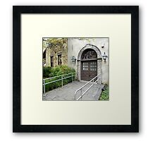Beautiful Entry. Framed Print