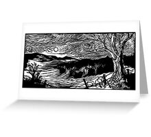 Valley of the Cows Greeting Card