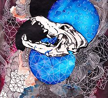Wolf Skull by phelixwarhol