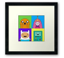 Adventure Time Pop Art Framed Print