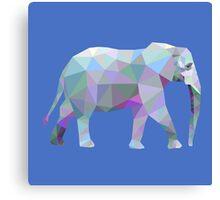 Geometric Elephant Canvas Print