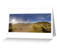 Lisfannon Beach, Fahan, County Donegal, Equirectangular  Greeting Card