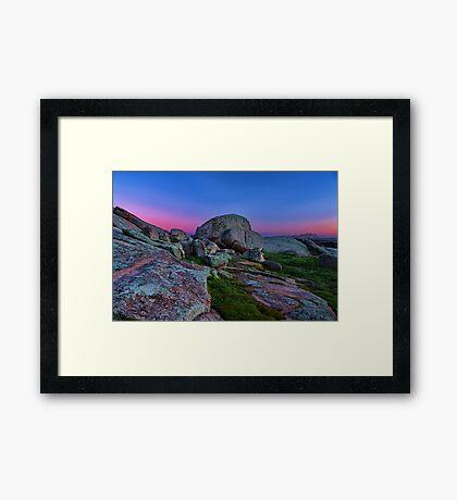 """Dawn At The Rocks"" Framed Print"