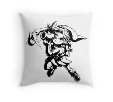 Legend of Zelda, Links Many Masks Throw Pillow