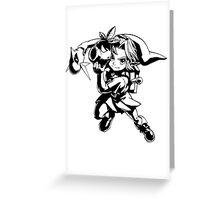 Legend of Zelda, Links Many Masks Greeting Card