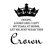 Let me just wear this crown by goldleaves