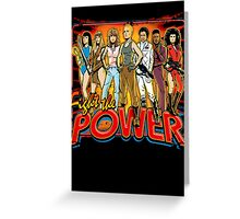 SuperWomen of the 80s - Fight The Power! Greeting Card