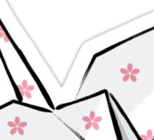 Paper Crane (Pink Sakura) Sticker