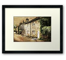 Downham Cottages Framed Print