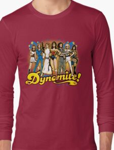 SuperWomen of the 70s - DyNoMite! Long Sleeve T-Shirt