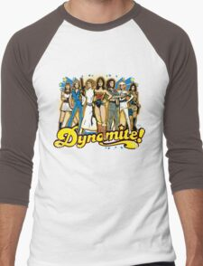 SuperWomen of the 70s - DyNoMite! Men's Baseball ¾ T-Shirt