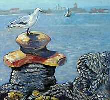 View of Saldanha Harbour by Marie Theron