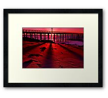 """Shadows On The Sand"" Framed Print"
