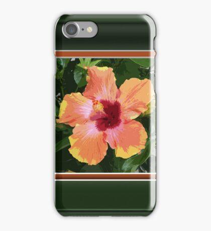 Multi Colored Tropical Hibiscus Artwork iPhone Case/Skin