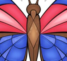 Agrias Butterfly - Stained Glass Sticker