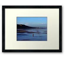 Stroll on the Beach Framed Print