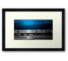 """""""weekends on the pier""""  Framed Print"""
