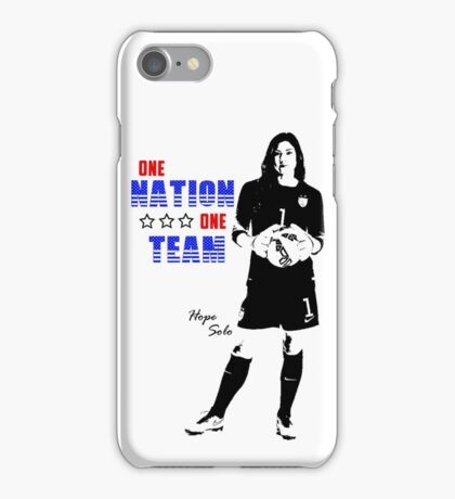 One Nation, One Team - Hope Solo Edition iPhone Case/Skin