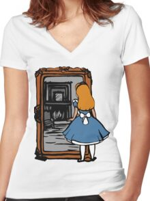 Alice - Through The Looking Glass Women's Fitted V-Neck T-Shirt