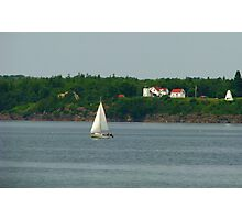 Sailing by Fort Point Light Photographic Print