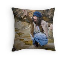 Like a Child is like a flower.. her head is just floating in the breeze man.. Throw Pillow