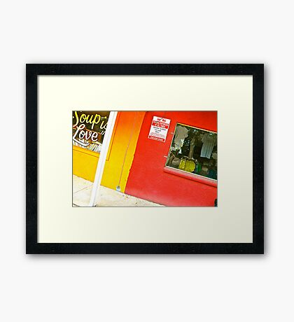 Store Glory Framed Print