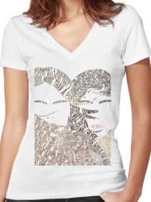 Paper Towns Movie Poster Typography (1 of 7) Women's Fitted V-Neck T-Shirt