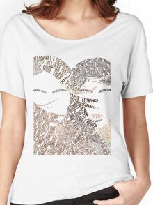 Paper Towns Movie Poster Typography (1 of 7) Women's Relaxed Fit T-Shirt