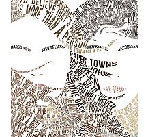 Paper Towns Movie Poster Typography (1 of 7) by saycheese14
