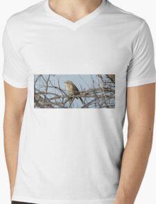 Bird on a branch. Mens V-Neck T-Shirt