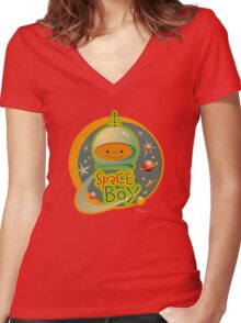 Space Boy! Women's Fitted V-Neck T-Shirt