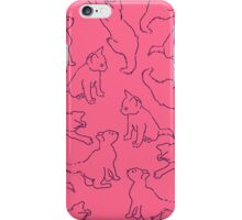 Kitty playing on pink iPhone Case/Skin