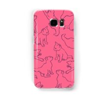 Kitty playing on pink Samsung Galaxy Case/Skin