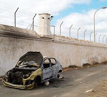Burnt out car by Alan Gandy