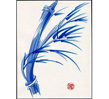 """Wind""  blue sumi-e ink wash painting Photographic Print"
