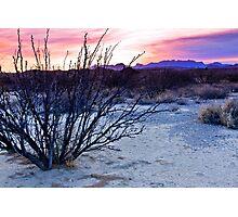 Sunset at Big Bend Photographic Print
