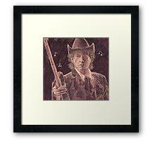 BOB DYLAN WITH GUITAR Framed Print