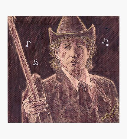 BOB DYLAN WITH GUITAR Photographic Print